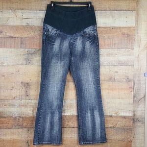 4208ab9d11ccb Mudd Jeans - Mudd Jeans Maternity Women's Black Acid Washed D81